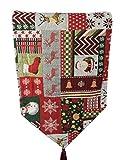 Vi.yo Mantel Banner decoración de Navidad de Lino Bandera de Navidad Mates de Mesa Jacquard teñido-teñido