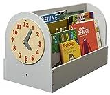 Tidy Books ® - Die originale Kinder-Bücherbox in Hellgrau - Aufbewahrung für Kinderbücher - Tragbares Bücherregal aus Holz für Kinder - 34 x 54 x 28 cm