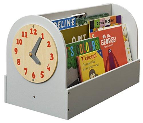 Tidy Books ® - Die originale Kinder-Bücherbox in Hellgrau - Aufbewahrung für Kinderbücher - Tragbares Bücherregal aus Holz für Kinder - 34 x 54 x 28 cm Bücherregal Book