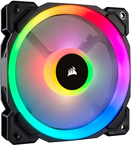 Corsair LL120 RGB, Ventilateur de Boitier Dual Light Loop RGB LED PWM 120mm (Single Pack)