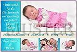 1 Danksagungskarte zur Geburt mit Ihren Fotos