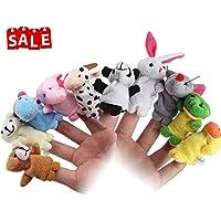 Lumiparty Marionetas Dedo Juguetes Bebe Animales Juguetes para la Educación (10pcs)
