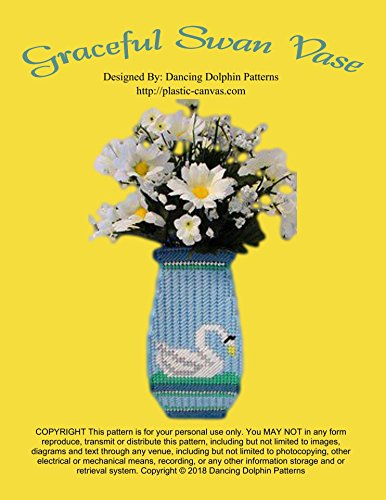 Graceful Swan Vase: Plastic Canvas Pattern (English Edition)