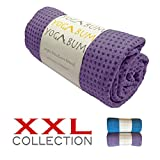 Yogabum XXL Collection Non-Slip Yoga Mat Towels (Orchid Purple)