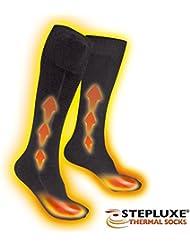 Stepluxe – Chaussettes chauffantes à piles – Idéale pour le sport d'hiver comme le ski, la randonnée, comme pour la moto, la chasse, la pêche et bien d'autres.
