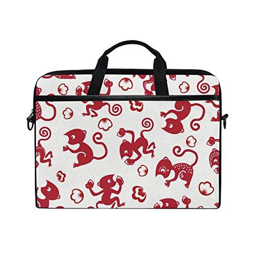 Laptop Laptop, Cute Cartoon Monkey Canvas Stoff Tasche zudem Handtasche mit Schultergurt für Damen und Herren ()