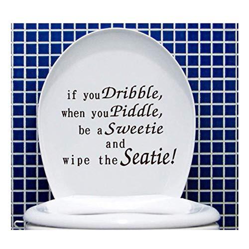 Wandaufkleber Abnehmbare WC-Mitglied Aufkleber Lustige süße niederländische Zitat, wenn Sie WC-Sitzbezug Wand kleben Aufkleber Dekoration Aufkleber (Von Niederländisch-übertragung)