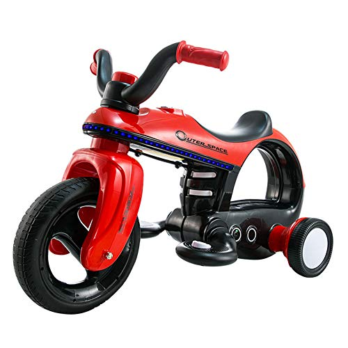 inder Fahren auf Motorrad, 3 Räder batteriebetrieben 6V Fahrt auf Spielzeug für Jungen und Mädchen, elektrisches Spielzeug für kleines Kind,Red ()