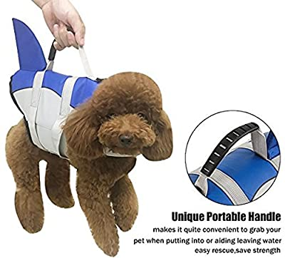 Songway Dog Life Jackets Pet Floatation Life Vest Dog Lifesaver Preserver Swimsuit from Songway