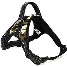 Motionjoy Nueva Suave Cómoda Acolchada Ajustable Mascota Pecho del Arnés del Chaleco para Mediano y Gran Tamaño Perro Formación o Caminar (Camo, XL)