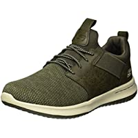 Skechers Men's Classic Fit-Delson-Camden Sneaker,olive,8 M US