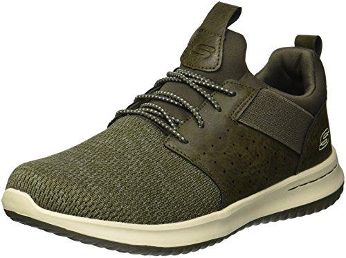 Skechers Herren 65474 Sneaker, Grün (Olive), 42 EU