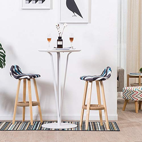 Rezeption Sitzgelegenheiten (YIC Stühle Moderne Möbel Bar Massivholz Hocker für Bar, Esstisch, Verkaufsbüro, Rezeption 32 * 32 * 48 (L * B * H),1001,G)