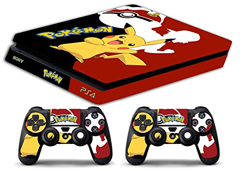 Skin Ps4 SLIM - POKEMON - limited edition DECAL COVER ADESIVA Playstation 4 Slim SONY BUNDLE