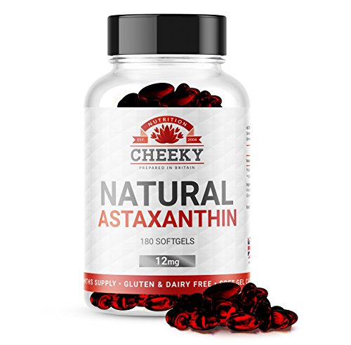 Astaxanthin 12mg softgels, 6 MONTH SUPPLY, UK MANUFACTURED by Cheeky Nutrition Test