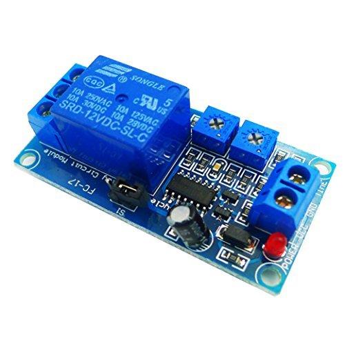 12v Ac Time-delay Relay (GEREE DC 12V Cycle Delay Module Cycle Relay Switch Relay Module 1-200S by GEREE)