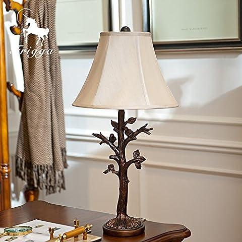 FDH  Villaggi americano il vecchio giardino di resina uccello tessuto decorativo di scultura lampade da tavolo, H720mm