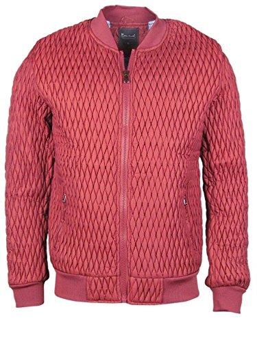 Jacke - mit gestepptem Waffelmuster - rot