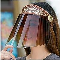 Sombra Protección solar ultravioleta verano visera de sol polarizadas Sombreros for la pesca mujeres viajan al aire libre Bicicleta Cara cubierta del casquillo de Sun del sombrero femenino niña