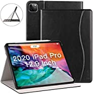 ZtotopCase for New iPad Pro 12.9 Case 2020, Leather Folio Stand Case Smart Cover with Auto Sleep/Wake Strap Po