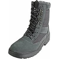Savage Island Grey Suede Army Patrol Combat Boots Tactical Military Hiking Airsoft Security (UK 8)