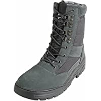 Savage Island Urban Grey Army Patrol Combat Boots Tactical Military Hiking Airsoft Security Suede