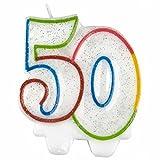 Amscan 99008127,5cm Milestone 50. Geburtstag Kerze