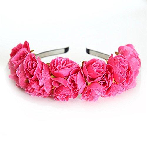 5c9a46cdb8cefa Neu Garland Rose Blumen Haarband Damen Stirnband Kopfband, LEEDY Tanzparty  Party Geschenk Neuheit.