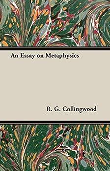 Essay on metaphysics collingwood