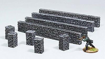 WWS de 28 mm de la Seconde Guerre mondiale 2, SECONDE GUERRE MONDIALE, mur en pierre et piliers Pack R13