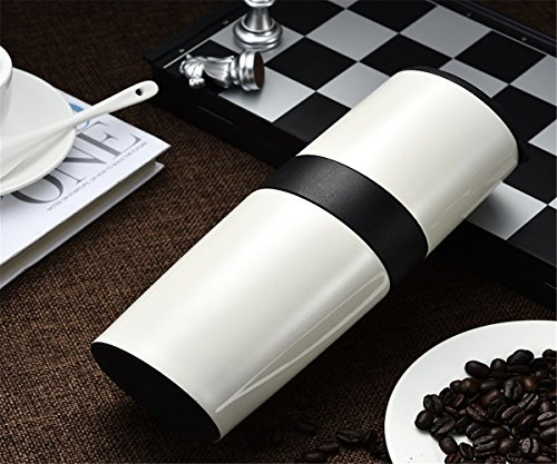 GXSCE Multifunktionale Kaffeemühle, kleine Kaffeemühle, Edelstahl-Becher, manuelle Multifunktions-Kaffeemühle, Espresso Coffee Bean Grinder, einstellbare Salz Pfeffermühle Grinds Bohnen Gewürze gebürstet