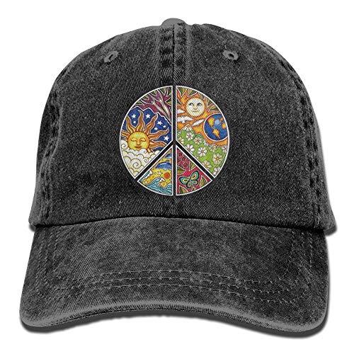 tro Washed Dyed Adjustable Denim Cowboy Cap ()