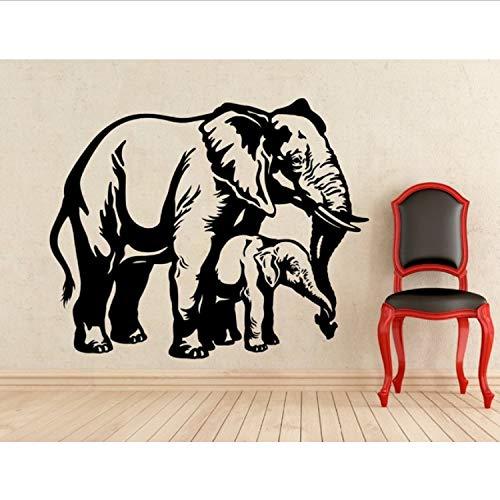 Elefante Mamá Tatuajes De Pared Animal Elefantes Etiqueta De La Pared Para...