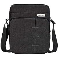 UBAYEE Bolso Hombre Bandoleras Pequeña para iPad MINI/Tableta hasta 8,5 Pulgadas, Bolsa de Hombro para Viaje Casual Oficina Uso Diario