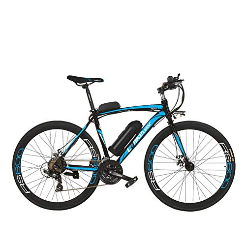 51GoYI2%2BWIL. SS500  - LANKELEISI RS600 700C Pedal Assist Electric Bike,36V 20Ah Battery,300W Motor, Aluminium Alloy Airfoil-shaped Frame,Both Disc Brake,20-35km/h, Road Bicycle