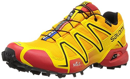 Salomon Speedcross 3 Gtx Damen Trail Runnins Sneakers Gelb (Yellow Gold/Radiant Red/Black)