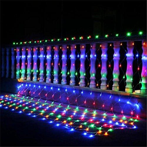 FFJTS Exklusives entworfenes 3 * 2 m 204 LED-Lichter Weihnachtswasserdichte dekorative Vorhänge helle Ineinander greifenbandspule beleuchtet , colorful