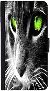 Snoogg Neon Eyes Designer Protective Phone Flip Back Case Cover For Samsung Galaxy J7 (2016)