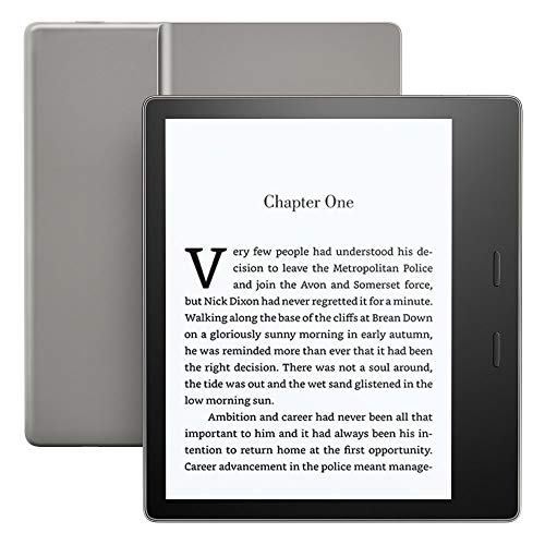 Kindle Oasis E-reader - Graphite, Waterproof, 7' High-Resolution Display (300 ppi), Built-In Audible, 32 GB Wi-Fi