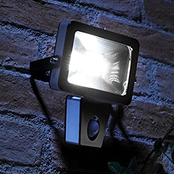 Auraglow 10w led low energy motion activated pir sensor security auraglow 10w led low energy motion activated pir sensor security floodlight outdoor wall light 150w aloadofball Choice Image