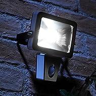 Auraglow Ampoule LED 10 W à faible consommation d'énergie avec détecteur de mouvement PIR Projecteur de sécurité extérieur équivalent 150 W applique murale
