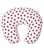 Niimo® Federa Cuscino allattamento 100% cotone con cerniera a Scomparsa | Diversi Design e Fantasie Disponibili (Bianco-Cuore Rosso)