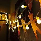 Uping® led Lichterkette 100 Globe Bälle AC EU-Stecker mit DC 31V Niederspannungstransformator und 8 Programm für Party, Garten, Weihnachten, Halloween, Hochzeit, Beleuchtung Deko in Innen und Außenbereich usw. Wasserdicht 12M warm weiß