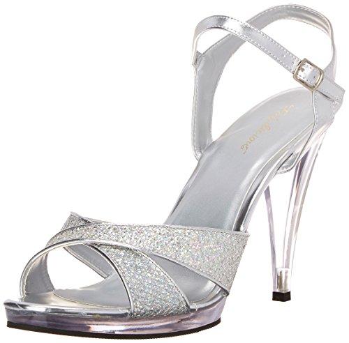 Pleaser Damen Flair Sandalen Silber (Argent Multi/Transparent), 37 EU -
