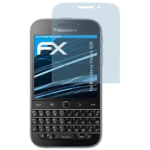 atFolix Schutzfolie kompatibel mit BlackBerry Classic Q20 Folie, ultraklare FX Bildschirmschutzfolie (3X)