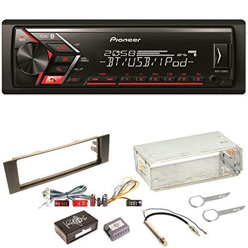 Pioneer MVH-S300BT Autoradio USB AUX 1-DIN MP3 Bluetooth WMA Einbauset für Audi A3 8P 8PA