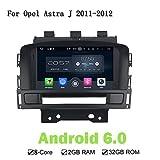 HD 1024x 600Octa Core 2G Android 6.0.1lettore DVD radio GPS Navigation impianto stereo testa unità per Opel Astra J 2011–2012 immagine