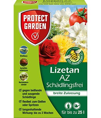PROTECT GARDEN Lizetan AZ Schädlingsfrei (ehem. Bayer Garten), Insektenabwehr gegen saugende und beißende Schädlinge, 75 ml