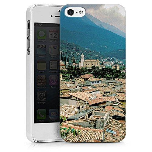 Apple iPhone X Silikon Hülle Case Schutzhülle Dächer Stadtpanorama Häuser Hard Case weiß