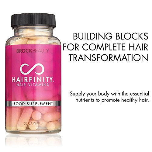 Brock Beauty Hairfinity® Healthy Hair Vitamins For Faster Hair Growth – Get Longer, Stronger And Healthier Hair | Achieve Thicker And Fuller Hair From Root To Tip ★ 60 Capsules